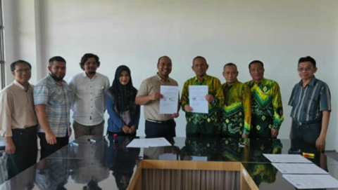 Penandatanganan Naskah MOU dengan DPW Perkumpulan Ahli Keselmatan Konstruksi Indonesia Provinsi Kalimantan Selatan
